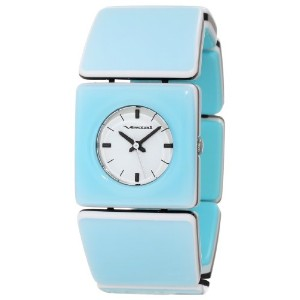 "ベスタル 時計 レディース 腕時計 Vestal Women's RWS3A02 ""Rosewood"" Seafoam Acetate Bangle Watch"