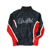 【UNDEFEATED】ROSTER JACKET[BLACK-RED] / アンディーフィーティッド ロスター ジャケット
