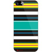【送料無料】 Moisture Stripe ブラック (クリア) design by Moisture / for iPhone SE/5s/docomo 【SECOND SKIN...