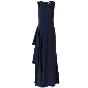 Egrey - ruffled long dress - women - アセテート/ビスコース - 38