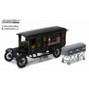 Precision Collection 1921年モデル フォード T型 霊柩車1921 Ford Model T Ornate Carved Hearse with Coffin Black...