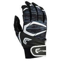 カッターズ メンズ 野球 グローブ 手袋【Cutters Power Control 2.0 Batting Gloves】Black/White