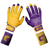 カッターズ メンズ 野球 グローブ 手袋【Cutters Prime Command Yin Yang Batting Gloves】Purple/Gold