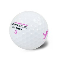 Pinnacle Ladies Gold with Pink Ribbon Logo One Dz【ゴルフ レディース>ボール】