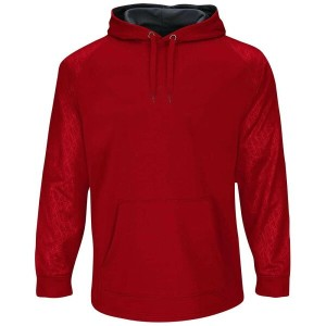 マジェスティック メンズ 野球 ウェア パーカー【Majestic Premier Home Plate Hooded Tech Fleece】Pro Scarlet/Pro Granite