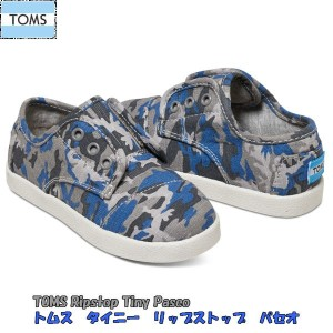 【10%OFF】【送料無料】トムス TOMS CAMO COTTON RIPSTOP TINY TOMS PASEO SNEAKERS【楽天スーパーSALE】【スーパーセール】