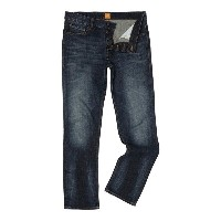 ヒューゴボス メンズ ボトムス ジーンズ【Hugo Boss Orange25 reg fit mid dark jeans】Denim Dark Wash