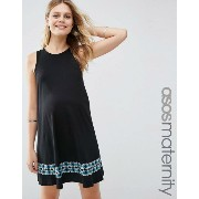 ASOS エイソス Maternity マタニティ Swing Dress ドレス ワンピース With Embroidered Tape