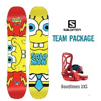 SALOMON 16-17 TEAM PACKAGE 100 スポンジボブ SPONGE BOB 〔2017スノーボード・板・子供用〕 (NC):L37801200 [30_off] [SP_SKI...
