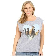 Roper Plus Size 0227 Lightweight Heather Jersey Tee