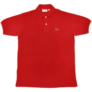 FRANCE LACOSTE(直輸入フランスラコステ) #L1212 S/S PIQUE POLOSHIRTS(半袖 鹿の子 ポロシャツ) ROUGE(RED)(240)