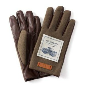 【 FRED PERRY / フレッドペリー 】 F19724 TOUCH SCREEN LEATHER / WOVEN MIX GLOVES レザー×メルトン グローブ 手袋 英国王室御用達...