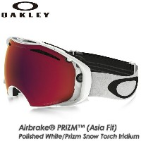【OAKLEY】オークリー 【AIRBRAKE PRIZM (Asia Fit)】エアブレイク Polished White/Prizm Snow Torch Iridium OO7073-05...