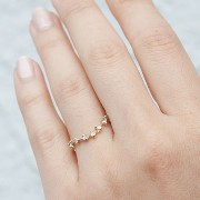CURVED SNOW QUEEN RING, YELLOW GOLD Catbird(キャットバード) バイマ BUYMA