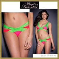 【Agent Provocateur】★Mazzy ビキニ ボトム★グリーン×ピンク Agent Provocateur(エージェントプロヴォケイター ) バイマ BUYMA