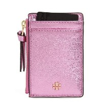 コインポケット付☆Tory Burch Crinkle Metallic Card Case Pink Tory Burch(トリーバーチ) バイマ BUYMA