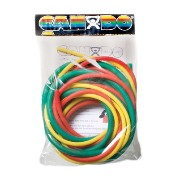 CanDo ラテックスフリー エクササイズチューブ 3色パック<弱抵抗セット> 正規輸入品 <latex-free exercise tubing PEP pack>