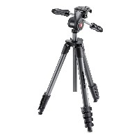 Manfrotto 三脚 COMPACT Advanced 3Wayフォトキット アルミ 5段 ブラック MKCOMPACTADV-BK