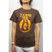 FRANK ZAPPA (フランクザッパ) For President TEE (BROWN) S size