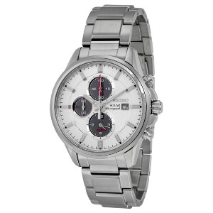 SEIKO セイコー SSC251 SOLAR CHRONOGRAPH WHITE DIAL STAINLESS STEEL MENS WATCH 男性用 メンズ 腕時計 [並行輸入品]