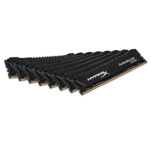 キングストン Kingston デスクトップ PCメモリ DDR4-2800 (PC4-22400) 8GB×8枚 HyperX Savage Black CL14 1.35V Non-ECC...