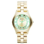 【2014年モデル】Marc by Marc Jacobs[マークバイマークジェイコブス] MODEL NO.mbm3295 HENRY SKELTON GOLD × MINT Green 34mm...