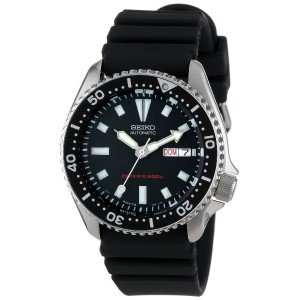 [セイコー]Seiko 腕時計 Stainless Steel and Black Polyurethane Automatic SKX173 メンズ [逆輸入]
