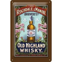 ウィスキー Old Highland Whiskey / ブリキ看板 TIN SIGN