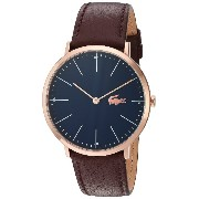 [ラコステ]Lacoste 腕時計 Quartz Gold and Leather Automatic Watch, Color:Brown 2010871 メンズ [並行輸入品]
