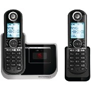 MOTOROLA DECT 6.0 Cordless Phone with Digital Answering System L802モトローラコードレス留守電付電話機【並行輸入】
