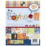 """Die Cuts with a View (DCWV) 8.5""""x11""""ペーパースタック All boy (180枚入)"""