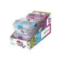 Sistema Klip It Salad to Go Containers with Color Accented Clips and clips colors may vary by...