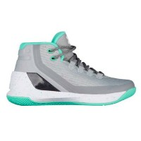 Under Armour Curry 3キッズ/レディース Grey/Meteor Green/White アンダーアーマー バッシュ カリー3 Stephen Curry ステフィン・カリー