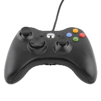 ICOCO USB ゲームコントローラー 有線 Xbox/Windows対応 Xbox360 Controller for Windows (ブラック)