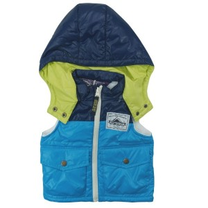 【冬物】OFFICIAL TEAM(オフィシャル チーム) 中綿入りタフタWinter Clothing Vest 80cm/TURQUISE NO.OT-15AW-1003