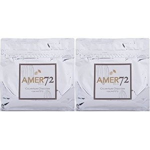 AMER72 Couverture Chocolate (アメール72 クーベルチュールチョコレート) カカオ分72% 2kg(1kg×2袋)