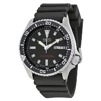 セイコー Seiko Men's SKX173 Stainless Steel and Black Polyurethane Automatic Dive Watch 男性 メンズ 腕時計 ...