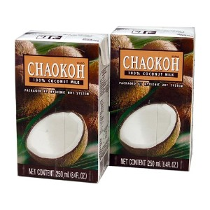 Chaokoh チャオコー ココナッツミルク 紙パック(2個入) Coconut Milk Pack of 2