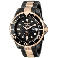 インヴィクタ Invicta Men's 10643 Pro Diver Automatic Black Carbon Fiber Dial Two Tone Stainless Steel...
