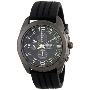 セイコー Seiko Men's SSC205 Analog Display Japanese Quartz Black Watch 男性 メンズ 腕時計 【並行輸入品】