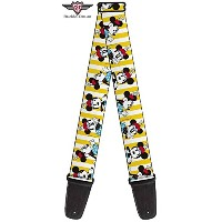 Buckle-Down バックルダウン / Guitar Strap GS-WDY060 Minnie Yellow ギターストラップ