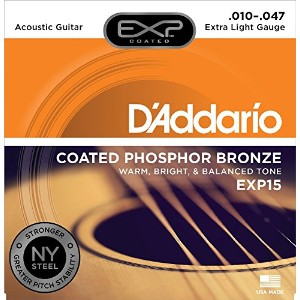 D'Addario ダダリオ / EXP15 Acoustic Guitar Coated Strings Phosphor Bronze Extra Light