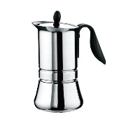 GAT Cafe Caffe Basic 10 Cup Stainless Steel Stove Top Espresso Coffee Maker
