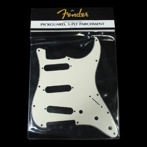 フェンダー USA 純正パーツ Fender Pickguard, StratSingle Coils 11 Screw Holes Parchment 991374000 ストラトキャスター 用...