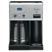 Cuisinart CHW-12 Coffee Plus 12-Cup Programmable Coffeemaker with Hot Water System, Black/Stainless...