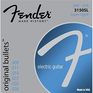 Fender フェンダー エレキギター弦 3150SL PURE NKL BLT END 8-38