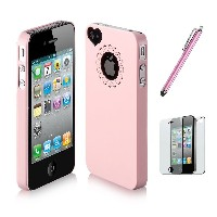 SODIAL(TM) Dexule Baby Pink Cute Girls Ultra-thin Ice Cream Glossy Hard Case Cover for iPhone 4 4S ...