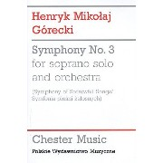 Henryk Gorecki: Symphony No.3 (Symphony of Sorrowful Songs) - Study Score. Partitions pour Soprano, Orchestre