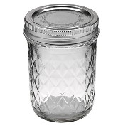 mj-81200 8oz(240ml) クリア (ボール) Ball メイソン ジャー Ball Quilted Crystal Jelly Jars【81200】容器 8oz 240ml ガラス...