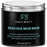 Radha Dead Sea Mud Mask 8.8 oz - THE BEST natural facial treatment and cleanser - Minimizes face...